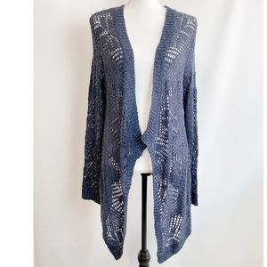 Rd style navy open cardigan